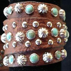 Leather Gunslinger Cuff Bracelet #T1