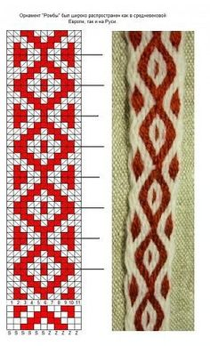 Inkle Weaving Patterns, Bead Loom Patterns, Loom Weaving, Beading Patterns, Diy Embroidery Shirt, Inkle Loom, Card Weaving, Crochet Diagram, Tapestry Crochet