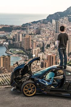 He climbs on his Pagani Zonda just to see Monaco..~LadyLuxury~