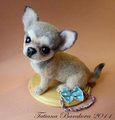OOAK Needle Felted Chihuahua by Artist Tatiana Barakova | eBay