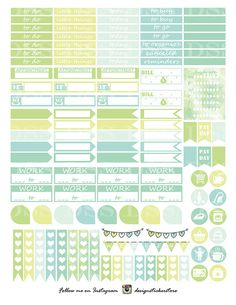Printable Planner Stickers for the vertical ECLP This listing includes 2 ZIP Files ( 3 PDF and 3 JPEG file) ( 8,5 x11) *This listing is for digital download, no actual physical stickers will be shipped to you. They are meant to be downloaded, printed and cut at home *You can