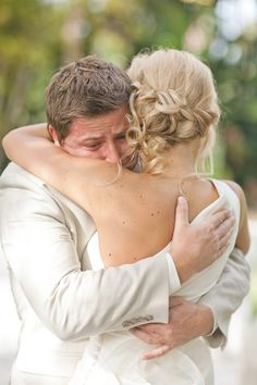 bride & groom crying  and huggin   This is the kind of photo you take when you marry your best friend ♥ Marrying My Best Friend, Marry Your Best Friend, Here Comes The Bride, Wedding Engagement, Our Wedding, Wedding Bells, Perfect Wedding, Dream Wedding, Wedding Things