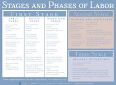 This poster gives details and tips for the early, active, and transition phases of the first stage, and valuable information on the second stage, and the third stage of labor.