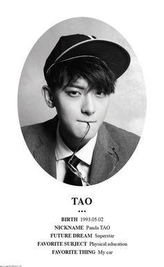 Tao- EXO i cant belive i havent pinned this yet Baekhyun, Park Chanyeol, Kris Wu, Super Junior T, Panda Bebe, Exo 12, Tao Exo, Huang Zi Tao, Fandom