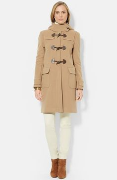 Free shipping and returns on Lauren Ralph Lauren Stand Collar Wool Blend Duffle Coat at Nordstrom.com. The hearty duffle coat gets a contemporary spin from a slim silhouette topped with a stand collar and cut from a warm wool blend infused with plush cashmere. Iconic details include a detachable hood with a button-off throat latch, roomy flap pockets and three toggles closures in front.