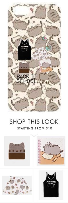 """""""#PVxPusheen"""" by wanttowearwhat on Polyvore featuring Pusheen, contestentry and PVxPusheen"""