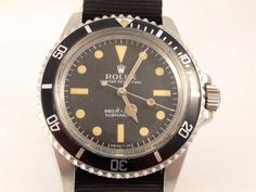 ***VINTAGE 1969 MEN'S ROLEX STAINLESS STEEL 5513 SUBMARINER AUTO WATCH***