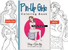adult coloring book nude vintage pinup girls naked retro - Nude Coloring Book