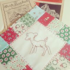My favorite little vintage deer to stitch up for Christmas!!