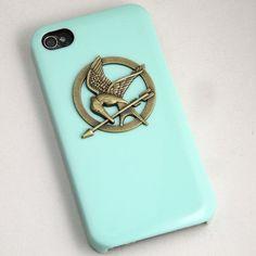 The Hunger Games Logo Mockingjay pendant light green by Sevinoma, $8.99
