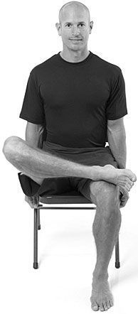 """Fight Chair Body - this pyriformis stretch relieves sore hips and a tight lower back. Excellent for lower back pain, tight hips, piriformis syndrome and sciatica. We all suffer from too much sitting or """"chair body"""" – this release exercise fights back, easing tension in the hips and lower back.  #Fitness #Exercise"""