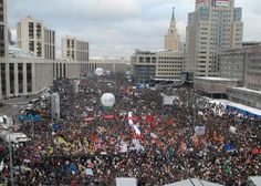 Russians protest official results of parliamentary elections in Moscow December 24, 2011
