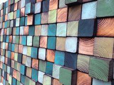 Mosaïque en bois par WallWooden sur Etsy