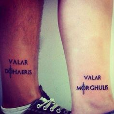 - 40 Fantastic Valar Morghulis Tattoo Designs - 40 Epic Game Of Thrones Tattoo Ideas & Inspiration