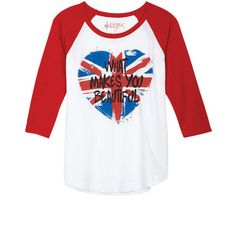 What Makes You Beautiful Union Jack Heart ($27) via Polyvore