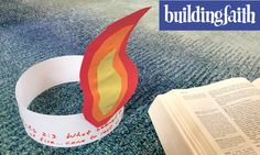 On Pentecost we celebrate the gift of the Holy Spirit. These tongue of fire hats connect to the Bible story in Acts 2. Bible Story Crafts, Bible Crafts For Kids, Preschool Bible, Preschool Lessons, Preschool Activities, Bible Activities, Bible Stories, Easter Prayer Stations, Prayer For Mothers