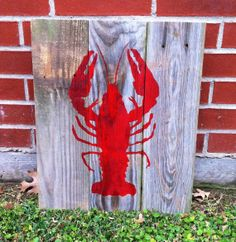 Crawfish Wall Hanging.  Reclaimed Wood by DixieCountryStore, $50.00