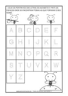 Free Kindergarten Worksheets, Preschool Learning Activities, Tracing Worksheets, School Worksheets, Alphabet Worksheets, Color Word Activities, Dad Crafts, Handwriting Activities, Phonics