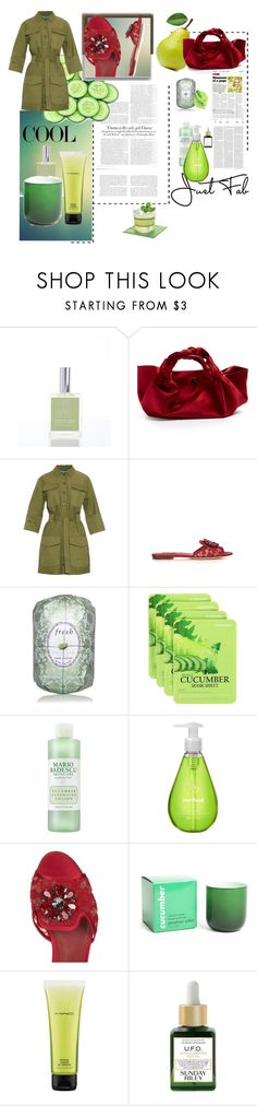 """""""Cool as a cucumber"""" by rhaxkido ❤ liked on Polyvore featuring Antica Farmacista, Vanity Fair, The Row, M.i.h Jeans, Edition, Dolce&Gabbana, Fresh, Forever 21, Mario Badescu Skin Care and Method"""