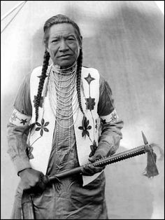 Martin Charlo, hereditary chief of Flathead tribe. Photographed August, 1913. - National Anthropological Archives, Smithsonian Institution.