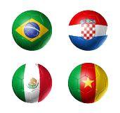 Grupo A mundial de fútbol: Brasil - Croacia - Mexico - Camerun