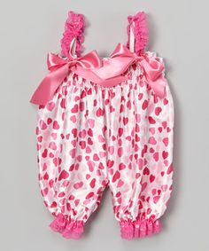 Another great find on #zulily! Pink Hearts Bubble Romper - Infant & Toddler by Tutus by Tutu AND Lulu #zulilyfinds