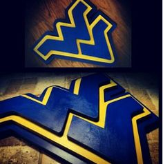 Large Custom 3D WVU West Virginia MOUNTAINEERS University Wood Sign Football Basketball Soccer College Wooden Plaque