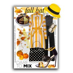 """Fashionable Fall Hat Contest: ""Polkas with Mustard"""" by enjoyzworld on Polyvore"