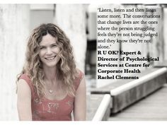 Our Director, Rachel Clements, an expert on the Think Tank team at R U OK? Day
