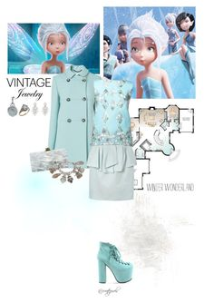 """""""Periwinkle Winter Style!"""" by lydiarts ❤ liked on Polyvore featuring Disney, Flutter By Jill Golden, Thakoon, Claire Deve, UNIF, Oscar de la Renta and Shinola"""