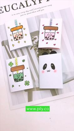 Cool Paper Crafts, Paper Crafts Origami, Diy Crafts For Gifts, Origami Art, Cute Crafts, Creative Crafts, Kawaii Crafts, Kawaii Diy, Miniature Crafts