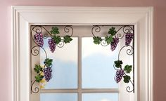 Vineyard Grape Decorative Door Corners. Would look cute coming up stairs under window