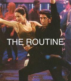 Friends tv show, Monica and Ross dancing the routine Friends Tv Show, Serie Friends, Friends Moments, I Love My Friends, Friends Forever, Best Friends, Monica Friends, Ross Geller, Phoebe Buffay