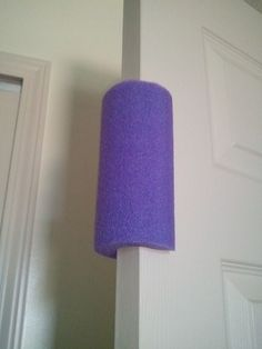 Inexpensive Toddler Proof Door Stopper - use a pool noodle! No more shutting doors or smashed fingers :) Why didn't I think of that?