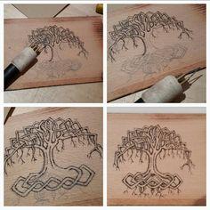"""woodburning by misssusi for """"Dagis Deko"""""""