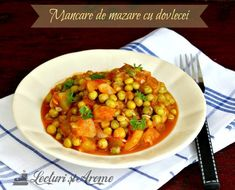 vegane (de post) Archives - Page 19 of 23 - Lecturi si Arome Vegetarian Recipes, Cooking Recipes, Ratatouille, Chana Masala, Zucchini, Food And Drink, Healthy, Ethnic Recipes, Chef Recipes