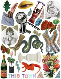 Bright, shiny images to mash together. Collage Book, Collage Sheet, Magazine Collage, Collage Design, Aesthetic Stickers, Digital Collage, Collages, Paper Dolls, Fabric Dolls