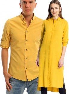 Hardal Tunik Gömlek Sevgili Kombinleri