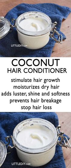 COCONUT HAIR CONDITIONER for smooth shiny hair Shampooing is often accompanied with conditioning because shampoo strips your hair and scalp off its natural oils and makes it dry and frizzy which is why you apply a conditioner too keep it moisturiz Homemade Hair Conditioner, Coconut Conditioner, Diy Hair Serum, Shampoo For Dry Scalp, Natural Shampoo And Conditioner, Coconut Shampoo, Natural Hair Shampoo, Shampoo For Curly Hair, Diy Shampoo