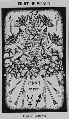 Галерея The Hermetic Tarot – 80 фотографий Tarot Card Decks, Tarot Cards, Wiccan, Magick, Hermetic Tarot, Eight Of Wands, Alchemy Symbols, Tarot Card Meanings, Penmanship