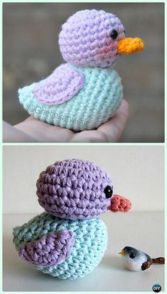 Crochet Amigurumi Ducky Free Pattern - Crochet Amigurumi Little World Animal Toys Free Pattern