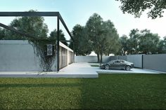 Minimalist Frame House - Igor Sirotov takes austere design to a new level with the Frame house. Located in the suburb of Kiev, Ukraine, the house features a simple, white c. Minimal Architecture, Architecture Design, Yanko Design, Concrete Blocks, Less Is More, Pool Houses, Bangkok, The Incredibles, House Design