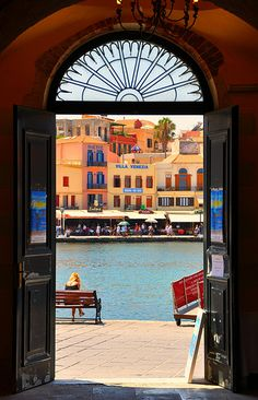 "abyinwonderland:    ""Greek Isles: Hania""  A glimpse of the old but charming Venetian harbor in Chania—the second largest city in Crete.  Photo by: trvbaker on Flickr"