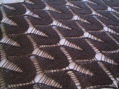 Dropped Stitch. Free original pattern - this pattern is modified a bit