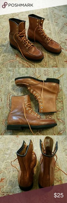 Town & Country Leather Hiking Boots EUC Very nice genuine all leather hiking boots.  Only worn a few times.  No flaws. Town & Country Shoes Lace Up Boots