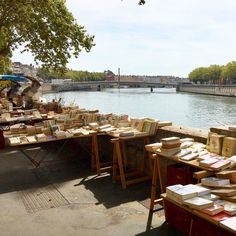 a cute book stall in france