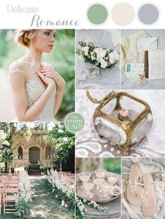 Natural Romance for an Ethereal Garden Wedding in Organic Blue and Green Shades 