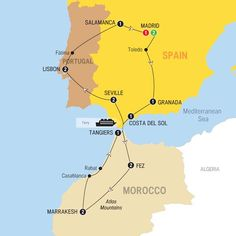 Escorted tours to spain and morocco