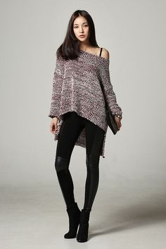 Unbal Long Knit Top