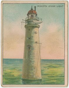 Minots ledge light From New York Public Library Digital Collections. British American Tobacco, Lighthouse Painting, Eilean Donan, Beacon Of Light, House By The Sea, Being In The World, New York Public Library, Old Postcards, Windmill